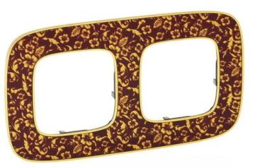 Рамка двухместная Valena Allure (Барокко Пурпур) 754442