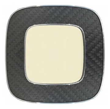 Рамка одноместная Valena Allure (Карбон) 754471