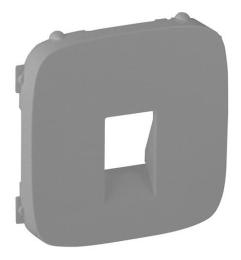 Лицевая панель Legrand Valena Allure для акустической розетки (алюминий)
