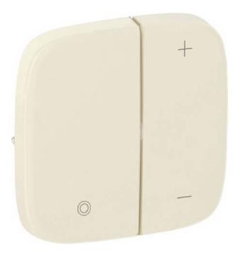 Лицевая панель Legrand Valena Allure для кнопочного светорегулятора (сл. кость) 752086