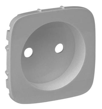 Лицевая панель Legrand Valena Allure для розетки 2К (алюминий) 754977