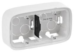 Коробка двухместная для накладного монтажа Valena Allure (белая) 755552