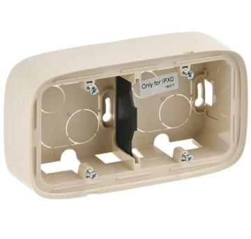 Коробка двухместная для накладного монтажа Valena Allure (слоновая кость) 755562