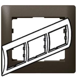 Рамка Galea life трехместная горизонтальная (темная бронза)