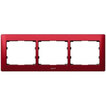 Рамка Galea life трехместная горизонтальная (красный) 771903