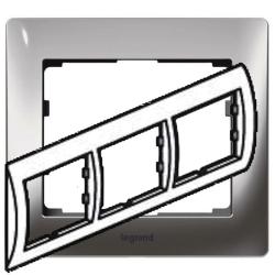 Рамка Galea life трехместная горизонтальная (хром)