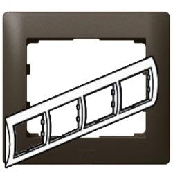 Рамка Galea life четырехместная горизонтальная (темная бронза)