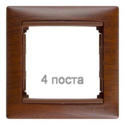 Рамка Valena четырехместная (Тонированное дерево)
