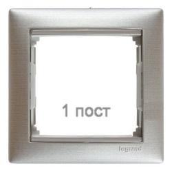 Рамка Valena одноместная (Матовый алюминий)