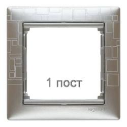 Рамка Valena одноместная (Алюминий модерн)