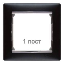 Рамка Valena одноместная (Ноктюрн/Серебряный штрих)