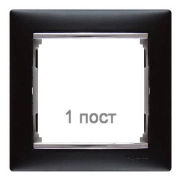 Рамка Valena одноместная (ноктюрн/серебряный штрих) 770391