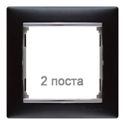 Рамка Valena двухместная (ноктюрн/серебряный штрих)  770392