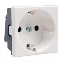 Механизм электрической розетки Legrand Mosaic c заземлением винтовые клеммы (белый) 077210