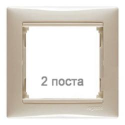 Рамка Valena двухместная (слоновая кость) 774352
