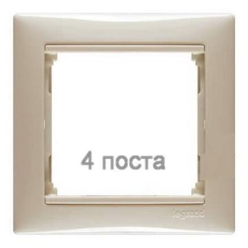 Рамка Valena четырехместная (слоновая кость)  774354