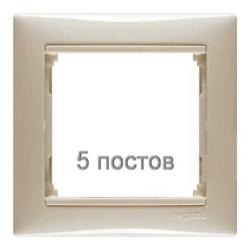 Рамка Valena пятиместная (слоновая кость)  774355