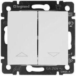 Кнопка-выключатель для управления жалюзи Valena (белый) 774414