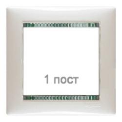 Рамка Valena одноместная (Белый/Кристалл)