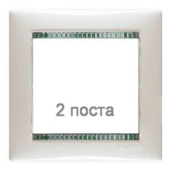 Рамка Valena двухместная (белый/кристалл) 774462