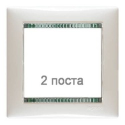 Рамка Valena двухместная (Белый/Кристалл)
