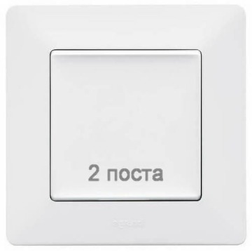 Артикул: 754002, Рамка двухместная Valena Life (белая)