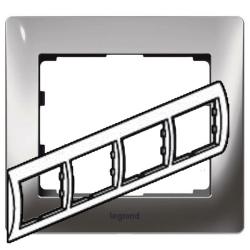 Рамка Galea life четырехместная горизонтальная (хром)