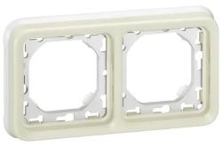 Рамка для встроенного монтажа с суппортом Plexo 2 поста (белая)