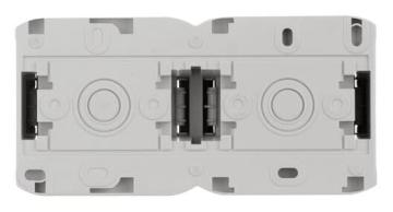 Розетка двойная с заземлением со шторками IP44 (Серый) 782353