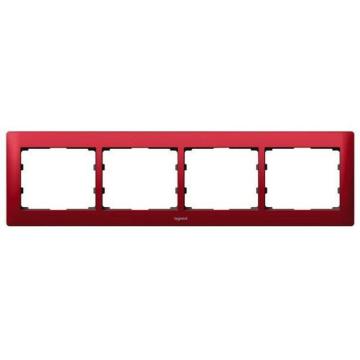Рамка Galea life четырехместная горизонтальная (красный) 771904