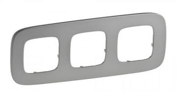 Рамка трехместная Valena Allure (Полированная сталь) 755503