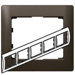 Рамка Galea life пятиместная горизонтальная (темная бронза) 771205