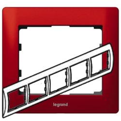 Рамка Galea life пятиместная горизонтальная (красный) 771905