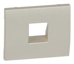 Лицевая панель Galea Life для розетки RJ11 (титан) 771495