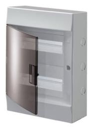 Бокс настенный ABB Mistral41 на 24 мод. прозрачная дверца (с шиной)
