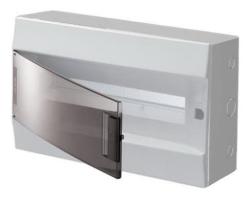 Бокс настенный ABB Mistral41 на 18 мод. прозрачная дверца (с шиной) 1SPE007717F9996