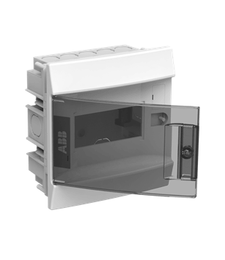 Бокс в нишу ABB Mistral41 на 6 мод. прозрачная дверца (с шиной) 1SLM004101A2201