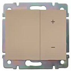 Cветорегулятор кнопочный Galea Life 40-400Вт (титан) 775652+771486