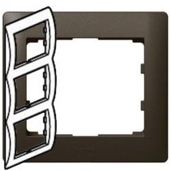 Рамка Galea life трехместная вертикальная (темная бронза) 771207