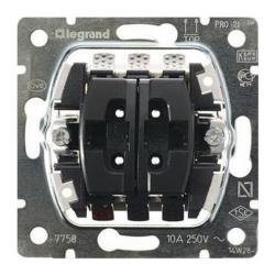 Механизм кнопочного выключателя для управления рольставнями Galea Life 775814