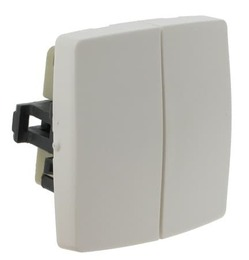 Выключатель-переключатель двухклавишный Oteo 086120