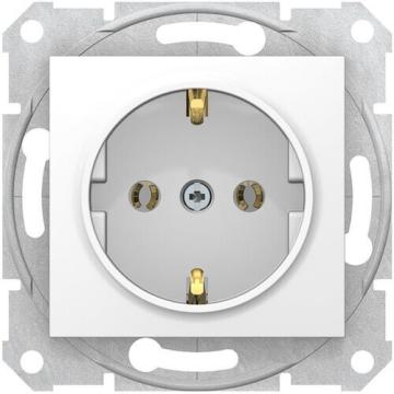 Розетка Sedna с/з с быстрозажимными клеммами (белый) SDN3001821