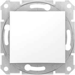 Выключатель одноклавишный Sedna (белый) SDN0100121