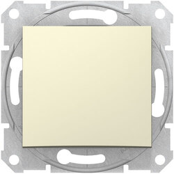 Выключатель одноклавишный Sedna (бежевый) SDN0100147