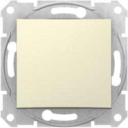 Проходной одноклавишный переключатель Sedna (бежевый) SDN0400147