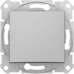 Выключатель одноклавишный Sedna (алюминий) SDN0100160