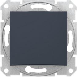 Проходной одноклавишный переключатель Sedna (графит) SDN0400170