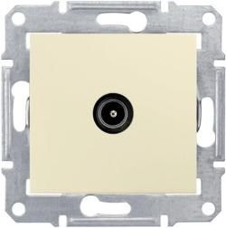 Розетка телевизионная Sedna проходная 4 dB (бежеывй) SDN3201847