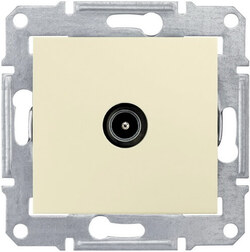 Розетка телевизионная Sedna проходная 8 dB (бежевый) SDN3201247