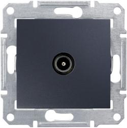 Розетка телевизионная Sedna проходная 8 dB (графит) SDN3201270